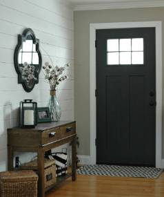 A mirror by the front door is a handy spot for a last-minute check before leaving. It's also a positive-energy booster, ...