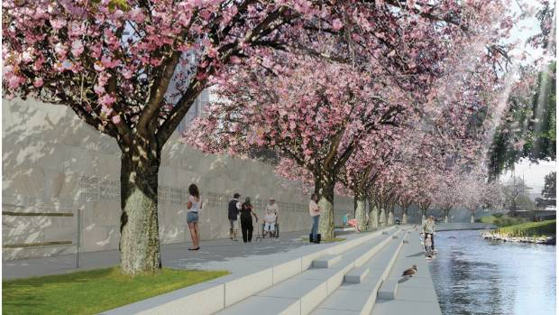 Grega Vezjak's original design for the memorial has been altered, including replacing the Japanese cherry blossom trees ...