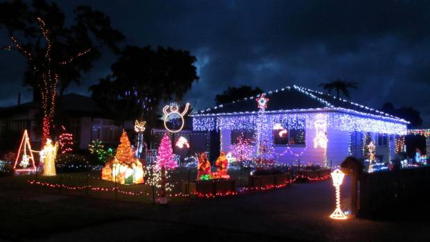 Greymouth couple Ann-Maree and Brett McLean's Christmas lights display