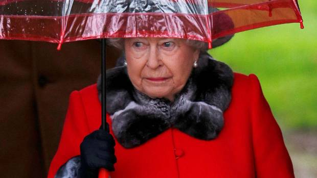 The Queen leaving the Christmas Day service at church in Sandringham in 2015. She missed the 2016 service because of a ...