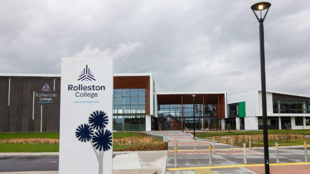 Rolleston College, newly built on the southeast side of the town, is due to open this year.