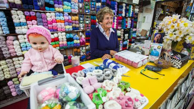 Bev Brain has owned The Wool Shop on Rangiora's High St for about 35 years.