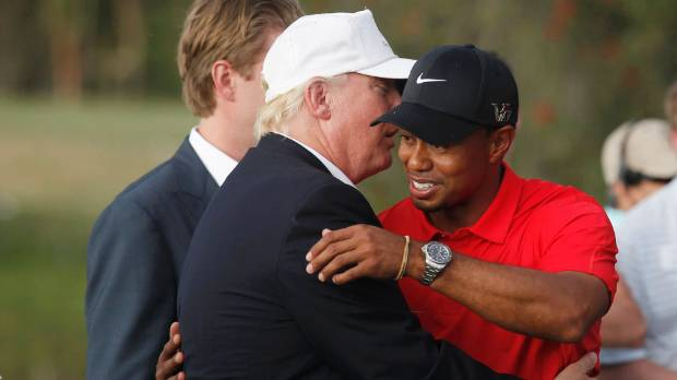 Tiger Woods: Donald Trump 'takes a pretty good lash' on the golf course