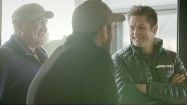 Richie McCaw features in Fonterra's ads speaking with various Fonterra farmers.