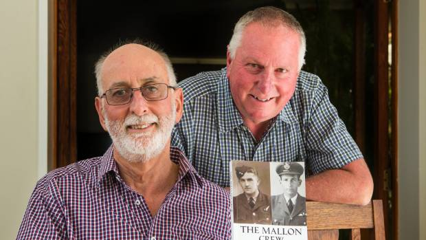 Kevin Mallon, on the left and Barrie Mallon, are brothers living in Christchurch who have learned about their father ...