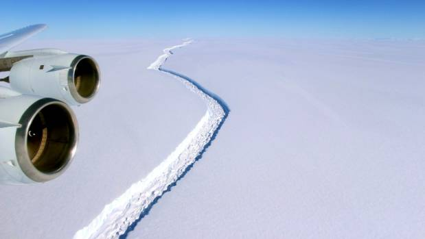 Massive crack in Antarctic ice shelf grows 11 miles
