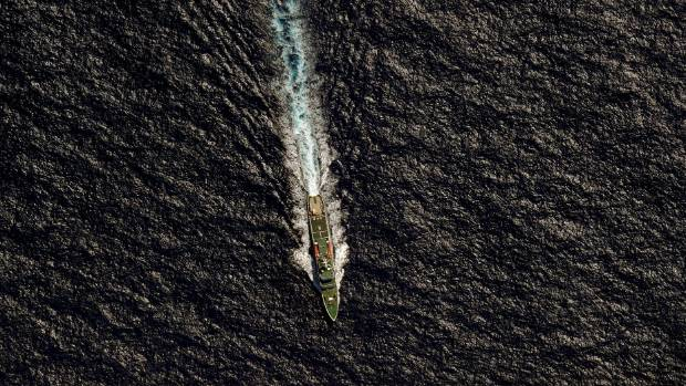 The Chinese Maritime Safety Administration (MSA) vessel Hai Xin 01 is seen from a Royal New Zealand Air Force (RNZAF) ...