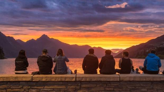 Even the sunsets are beautiful in Queenstown.