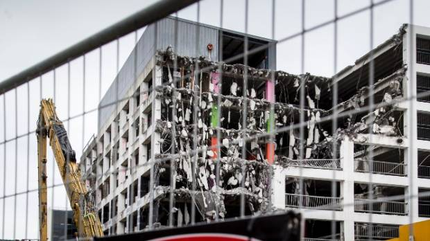 Reading car park's demolition is expected to take until March to complete.