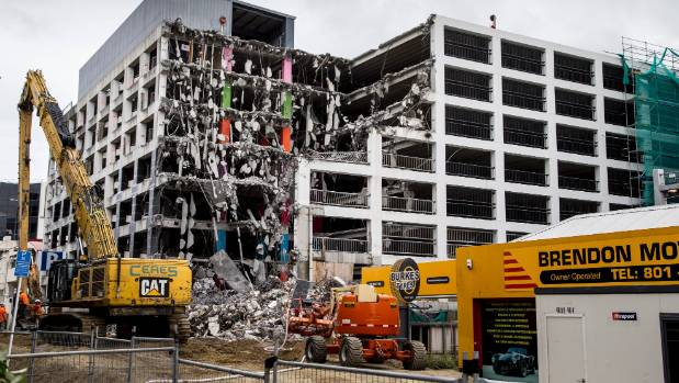 Reading Cinema car park, viewed from Tory St and Wakefield St, is undergoing demolition, which is expected to take until ...