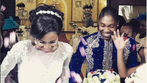 Caster Semenya married her long-time partner Violet  Raseboya.