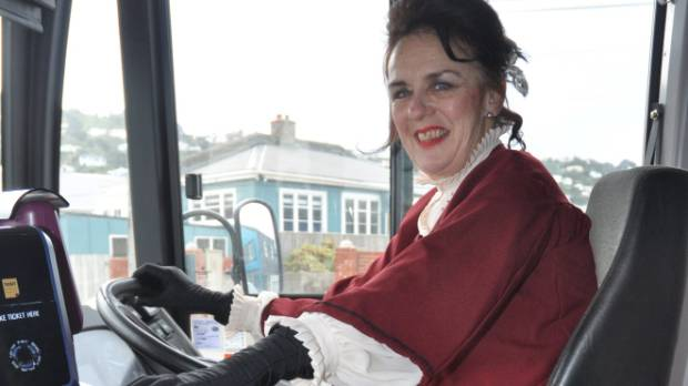 Wellington bus driver Cathy Howell is also a veteran actor in the community. Here she drives the bus in her Little Women ...