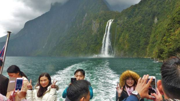 Check out Stirling Falls at Milford Sound.
