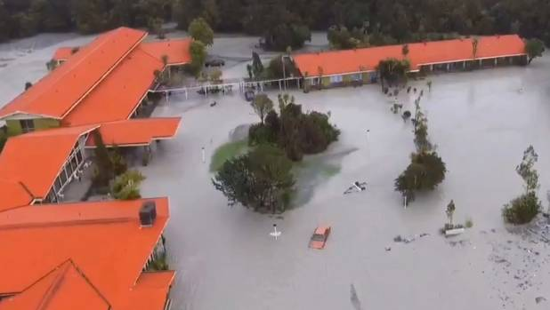 The West Coast town of Franz Josef suffered flooding in 2016.