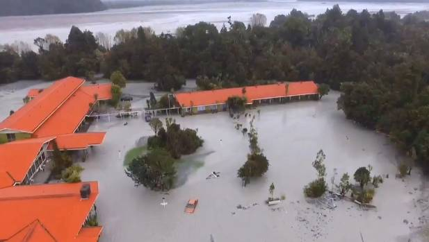 The West Coast town of Franz Josef suffered flooding in 2016 which swept away its sewage ponds.