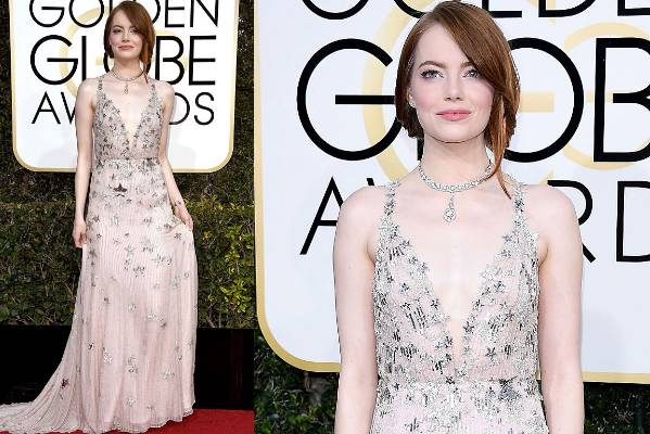 THE GLORIOUS: I really, really love this. Emma Stone's Valentino is delicate and feminine, but those stars stop it ...