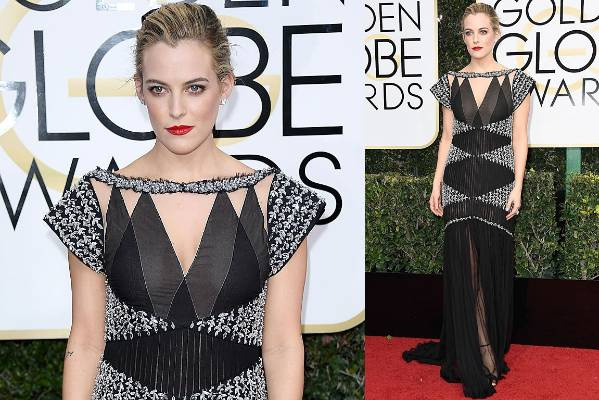 THE WORST: Riley Keough is absolutely beautiful, but this dress is both perplexing and bad. What are any of those panels ...