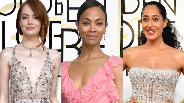 Emma Stone, Zoe Saldana and Tracee Ellis Ross all killed the red carpet at the 74th Golden Globes.