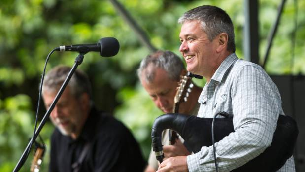 Ceol Manawatu play at last year's Sounds of Summer. From left, Craig Prichard (guitar), Murray Mansfield (bouzouki, ...