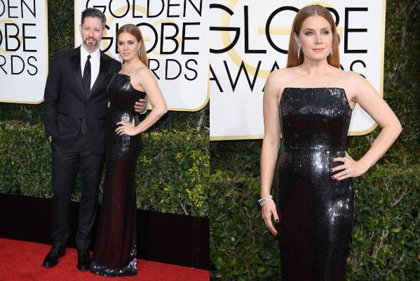 THE MOSTLY: Amy Adams is wearing Tom Ford here, which makes sense as they just made a movie together. It's black and ...