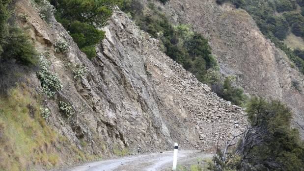 A new road will be built once a major slip is cleared on the Awatere Valley, Marlborough.