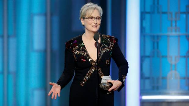 Meryl Streep slammed Donald Trump in her acceptance speech at the Golden Globes.