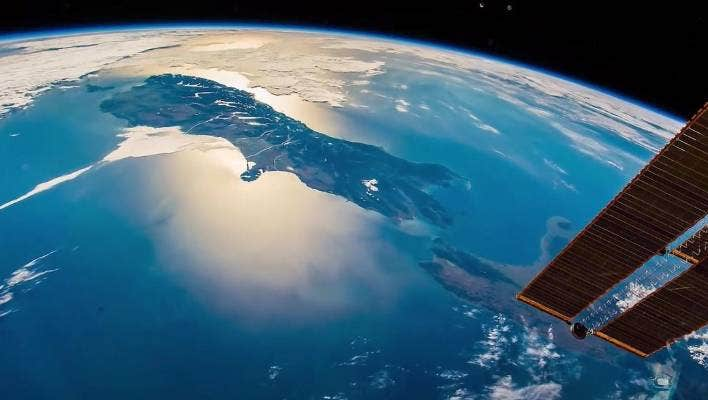 How New Zealand looks from the International Space Station.