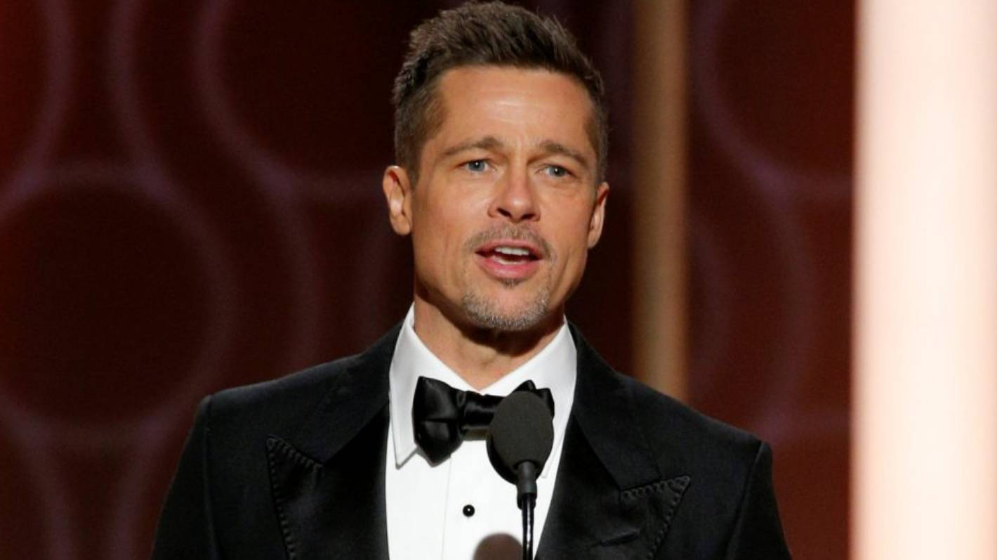 Happy Brad Pitt surprised by his appearance at the ceremony Golden Globe 2017