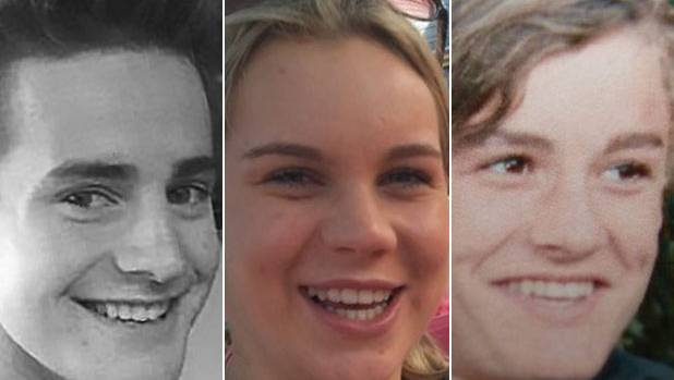 Leeston crash victims Sam Drost, Lily Moore and Cole Christensen-Hull