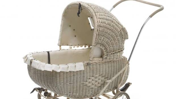A Plunket pram from the late 1940s is one of curator Kirstie Ross' favourite items in the exhibition.