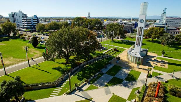 Sitting in the centre of Palmerston North is The Square complete with its clock tower, duck pond and multiple sculptures.