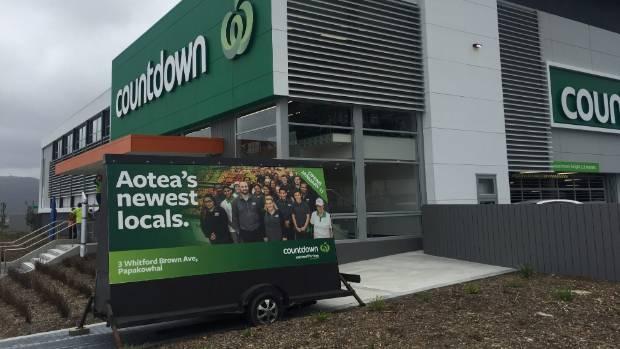 Porirua's newest supermarket, Countdown, in Aotea, is set to open.