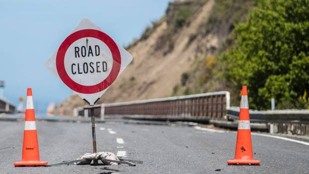 State highway 1 south of Kaikoura is regularly closed at night.