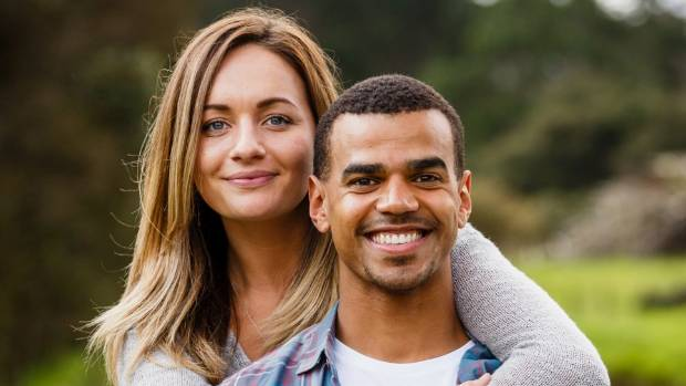 Actress Grace Palmer (Lucy) with Tane Williams-Accra  who plays her on-screen husband Ali.