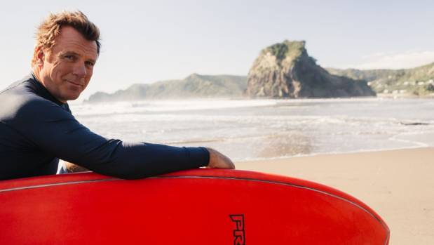 Erik Thomson spent time on Auckland's west coast beaches while filming 800 Words.
