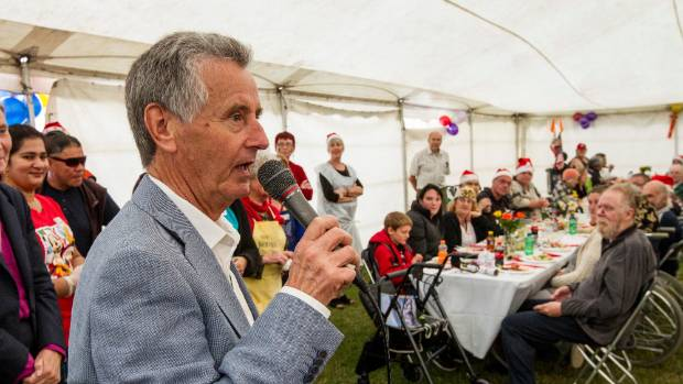 City Missioner Michael Gorman made his farewell speech at the Christchurch City Mission's annual Christmas lunch in 2016.