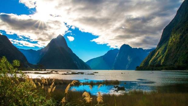 Mitre Peak in Milford Sound, one of the most famous tourist attraction of New Zealand.