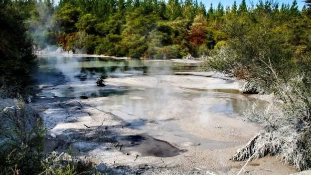 Bubbling hot mud in Rotorua.
