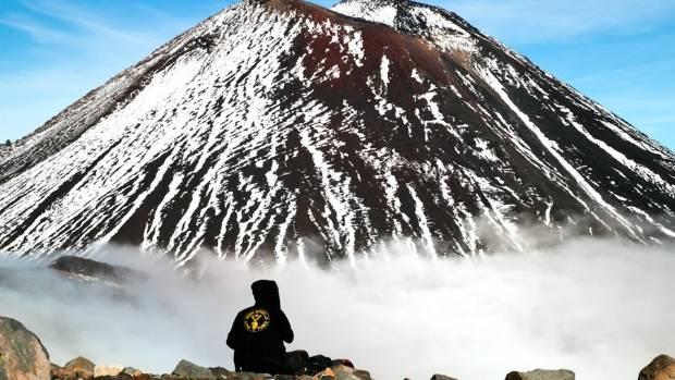 Admiring Mt Ngauruhoe.