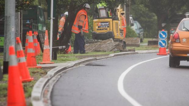The new kerbs and driveways along Te Moana Rd, Waikanae, have been blamed for cyclist crashes.