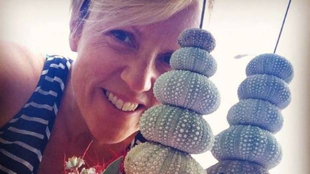 Hilary Barry got crafty this Christmas for a Kiwi-themed table centerpiece.