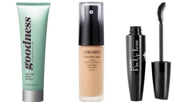 Rachel Burqhardt rates Goodness Cleansing Cream, Shiseido Synchro Skin Foundation and NYX Pin-Up Tease Mascara.