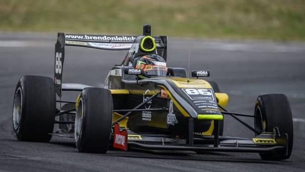 Brendon Leitch rips around Bruce McLaren Motorsport Park in Taupo during round four of last year's Toyota Racing Series.