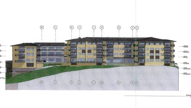 A concept design for a planned retirement and aged-care complex at 122 Churchill Drive, Crofton Downs, that some nearby ...