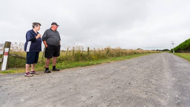 Anita and Ted Danych want the New Plymouth District Council to take action regarding a dusty road which leads to their ...