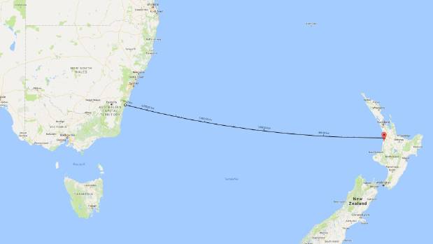 The over 2000km journey it appears Langdon and daughter Que made on a six-metre catamaran.