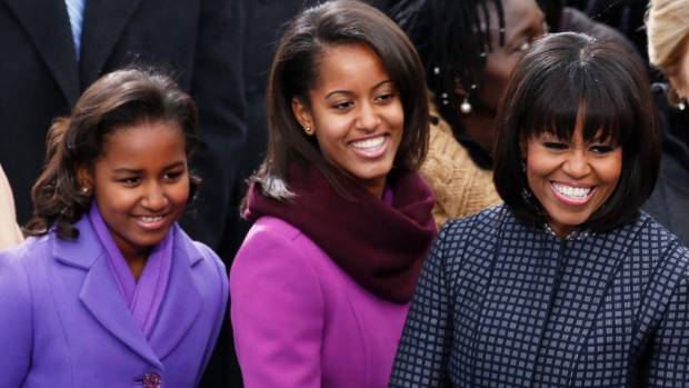 Sasha Obama (left) has one more year of high school left.