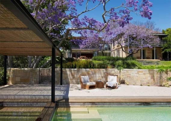 Beautiful outdoor living areas are a feature of the property.