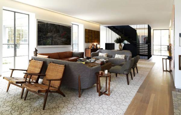 The open-plan living area has a sophisticated, yet contemporary feel.