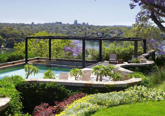 The riverfront property has attractive views and fabulous gardens.